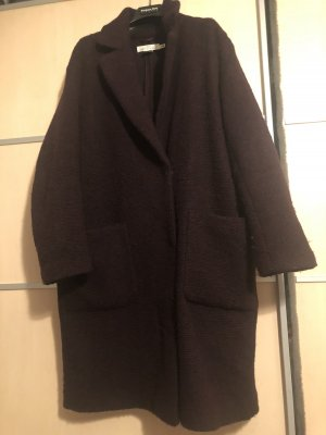 H&M L.O.G.G. Oversized Coat brown red-dark blue