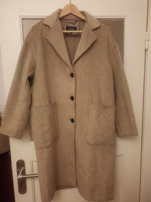 Hailys Manteau oversized marron clair-beige