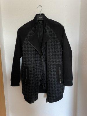 C&A Abrigo ancho gris antracita-negro