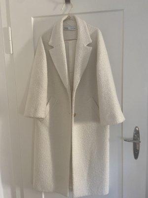 Zara Oversized Coat natural white wool
