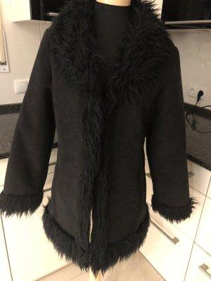 Casa Cappotto in eco pelliccia nero