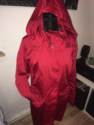 More & More Cappotto con cappuccio rosso