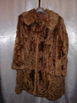 Veste de fourrure bronze-brun