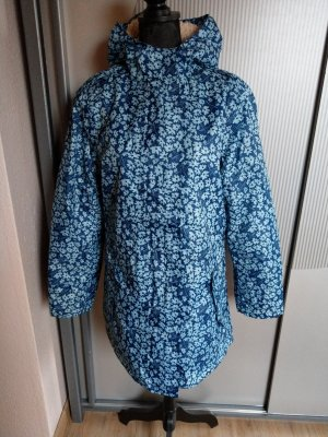Heavy Raincoat neon blue-white