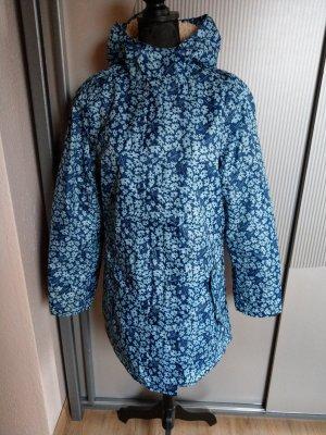 Manteau de pluie bleu fluo-blanc
