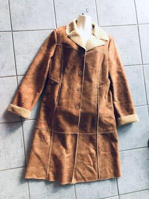 Robert Ley Fake Fur Coat beige
