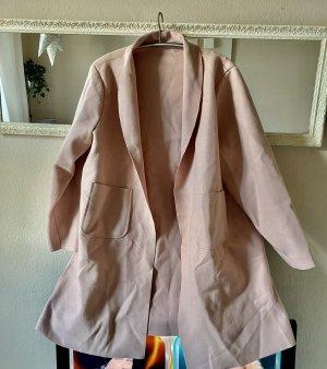 Manteau polaire vieux rose