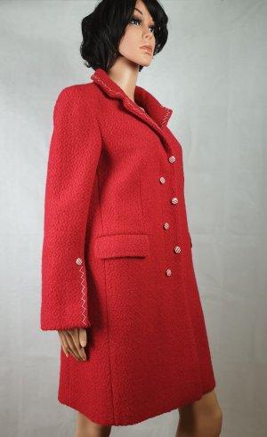 Mantel, Rot,Wolle,FENDI stil,Unikat,38,M