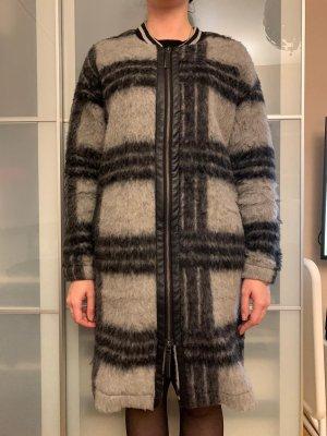 Cream Abrigo de lana negro-gris