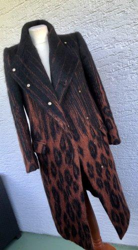 Salvatore ferragamo Cappotto in eco pelliccia marrone-nero-marrone-rosso