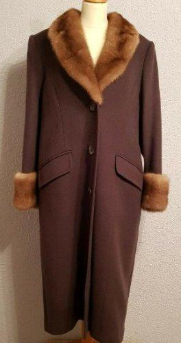 Manteau long brun