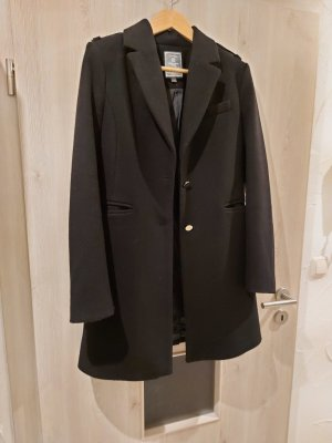 Mantel schwarz Geisha Wollanteil Wintermantel