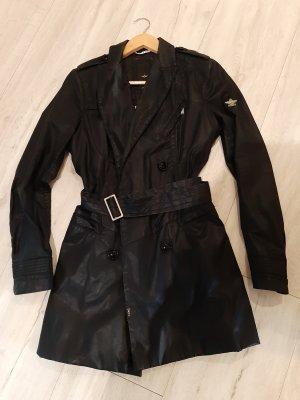 Mantel schwarz hochwertig Dek'her Jacke Trenchcoat