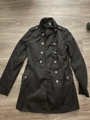 Mantel schwarz in xs neu