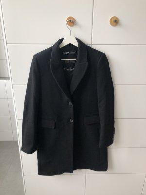 Zara Abrigo ancho negro