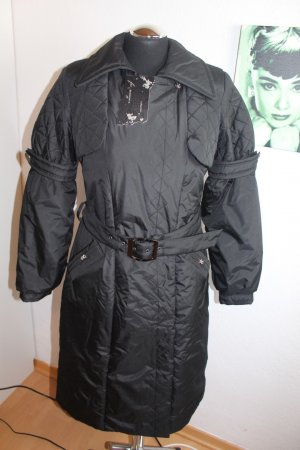 Mantel Schwarz Steppmantel