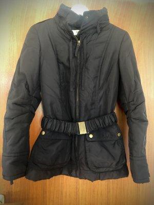 Mantel schwarz von Zara S mit Gürtel