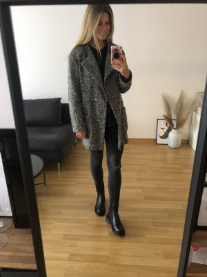 Mantel, schwarz weiß meliert, Gr.S