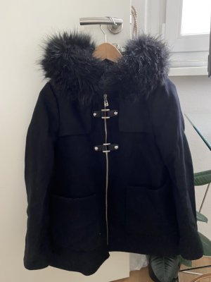 Mantel schwarz Zara Fell