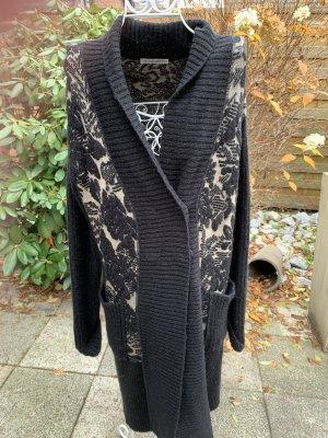 Twin set Gebreide jas zwart-beige