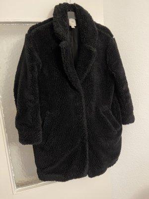 keine Manteau en fausse fourrure noir