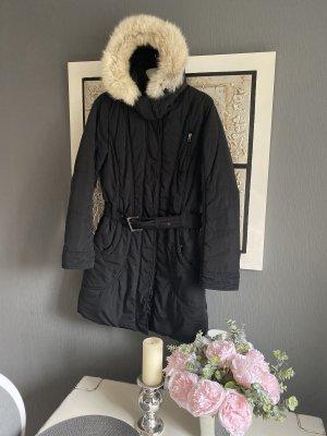 Tom Tailor Manteau à capuche noir