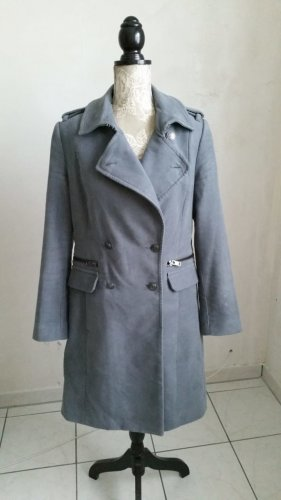MNG Trenchcoat gris clair-gris