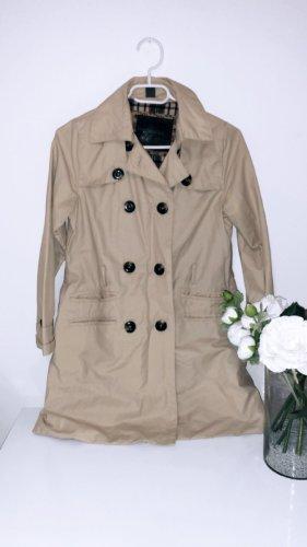 Mantel trenchcoat beige braun jacke zara übergangsjacke