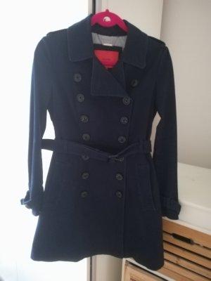 Mango Trench Coat blue-dark blue