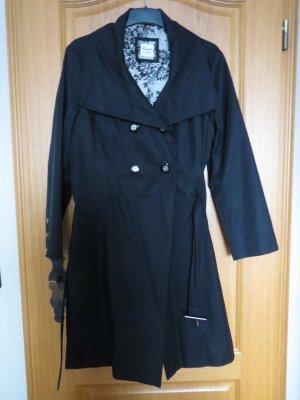 Mantel, Trenchcoat, Gr.44, schwarz