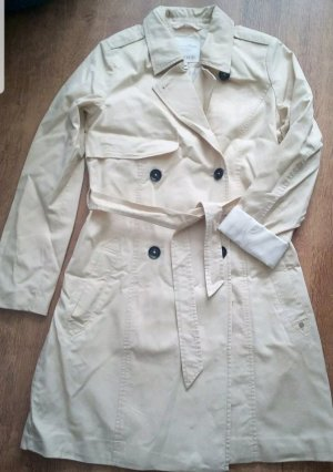 Mantel Trenchcoat Parka Jacke Tom Tailor Gr S 36 38 beige / Creme NEU