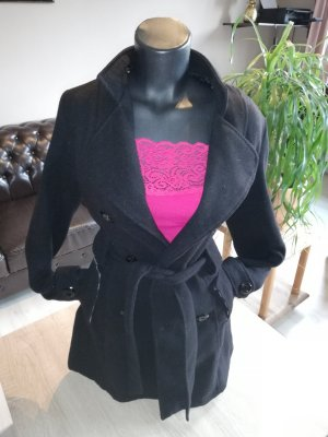 anonymous&famous Trench Coat black