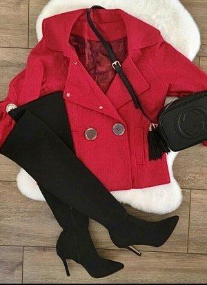 Cappotto corto rosso scuro