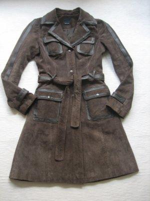 Mantel Vero Moda in S, 36 braun Trenchcoat tailliert Leder