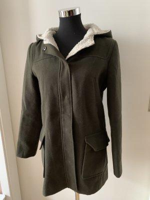 Asos Cappotto con cappuccio cachi-grigio-verde