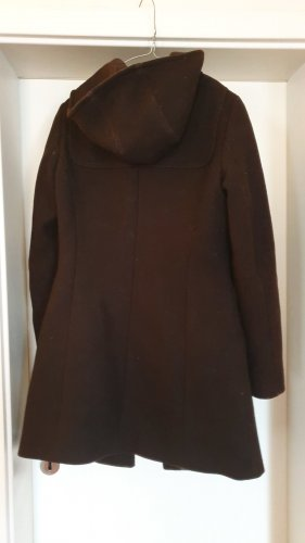 Benetton Hooded Coat brown