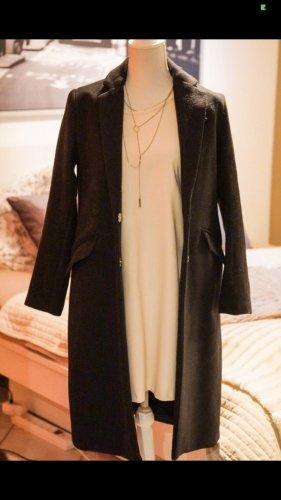Bershka Cappotto in lana nero