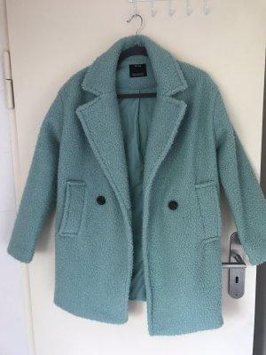 Bershka Abrigo ancho azul claro
