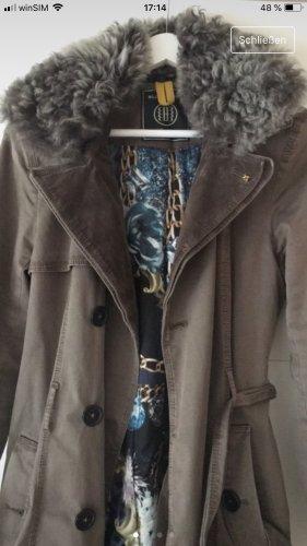 Blonde No. 8 Abrigo de invierno gris verdoso-gris oscuro