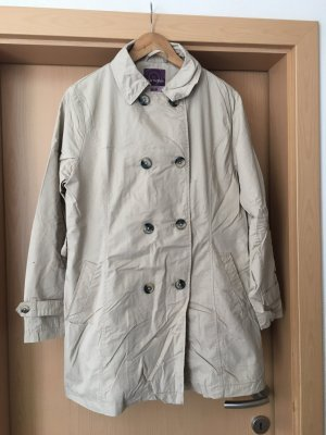Blue Motion Trench Coat beige