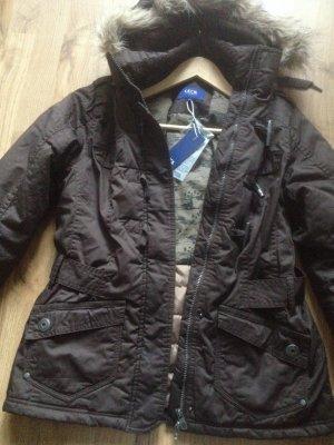 Manteau à capuche bronze