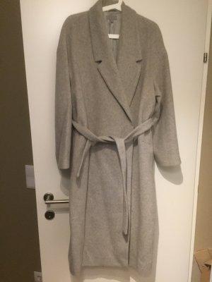 COS Abrigo de lana gris claro-gris