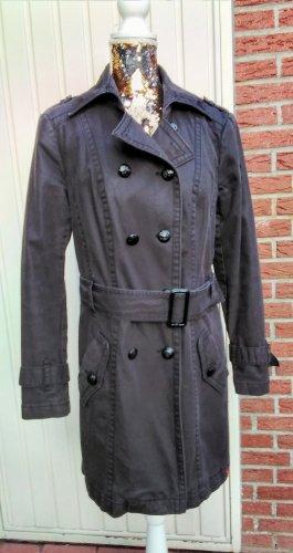 edc Trench Coat black cotton