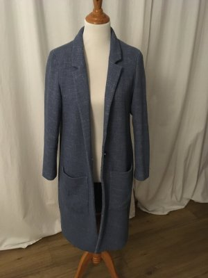 Esprit Abrigo de entretiempo azul aciano tejido mezclado