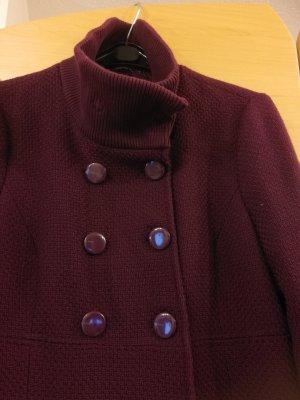 Esprit Abrigo ancho rojo zarzamora