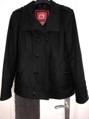 Edc Esprit Marynarski płaszcz czarny