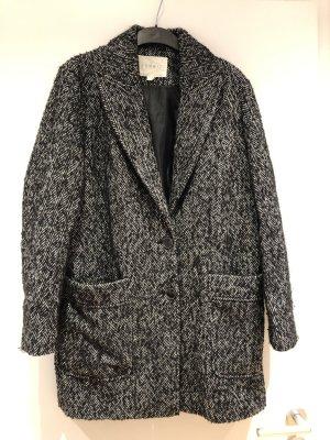 Esprit Abrigo de lana negro-blanco