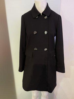 H&M Heavy Pea Coat black