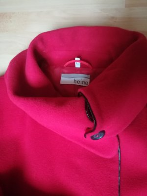 Heine Gabardina tipo vestido rojo