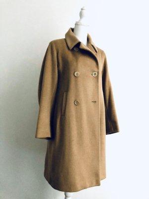 Jil Sander Cappotto in lana color cammello
